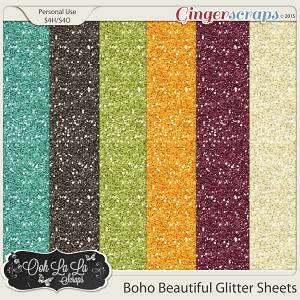 Boho Beautiful Glitter Sheets