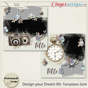 Design your Dream life Templates Set4