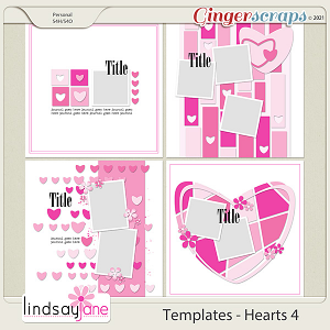 Templates - Hearts 4 by Lindsay Jane