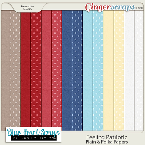 Feeling Patriotic: Plain and Polka Papers