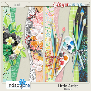 Little Artist Borders by Lindsay Jane