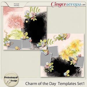 Charm of the Day Templates Set1