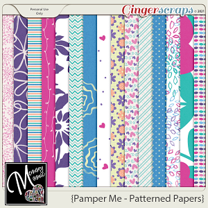 Pamper Me - Patterned Papers by Memory Mosaic