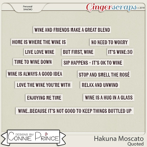 Hakuna Moscato - Quoted by Connie Prince