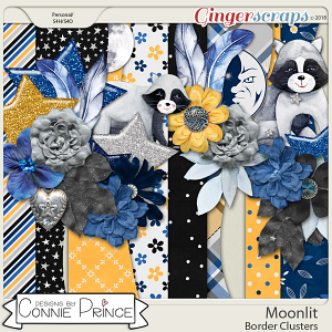 Moonlit - Border Clusters by Connie Prince