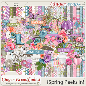 GingerBread Ladies Monthly Mix: Spring Peeks In