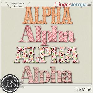Be Mine Alphabets