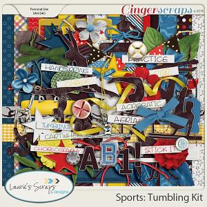 Sports: Tumbling Page Kit