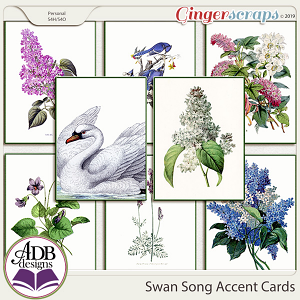 Swan Song Accent Cards by ADB Designs