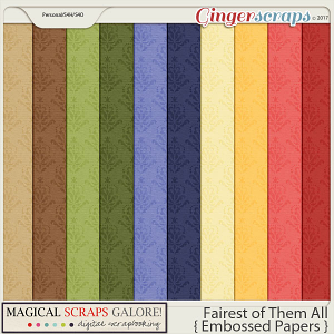 Fairest of Them All (embossed papers)