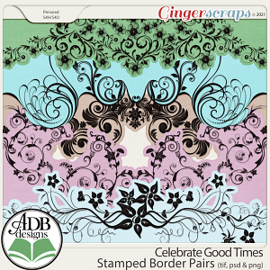 Celebrate Good Times Stamped Border Pairs by ADB Designs