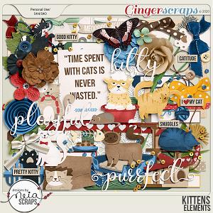 Kittens - Elements - by Neia Scraps
