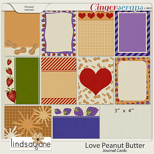 Love Peanut Butter Journal Cards by Lindsay Jane