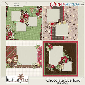 Chocolate Overload Quick Pages by Lindsay Jane