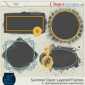 Summer Daze: Layered Photo Masks by Miss Fish