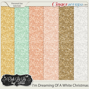I'm Dreaming Of A White Christmas Glitter Sheets