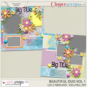 Beautiful Duo - Templates - VOL 1 - by Neia Scraps