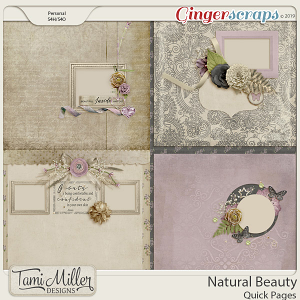Natural Beauty Quick Pages by Tami Miller Designs