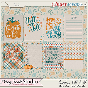 Burlap Fall Y'all Journal Cards