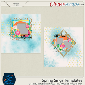 Spring Sings Templates by Miss Fish