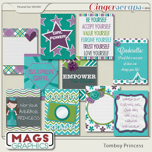 Tomboy Princess JOURNAL CARDS