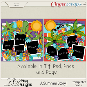 A Summer Story: Templates Vol. 2 by LDragDesigns