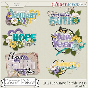 2021 January: Faithfulness Wordart by North Meets South Studios