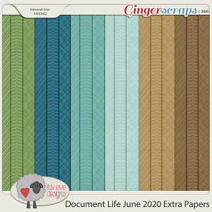 Document Life June 2020 Extra Papers by Luv Ewe Designs