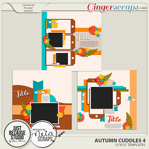 Autumn Cuddles Templates 4 by JB Studio and Neia Scraps