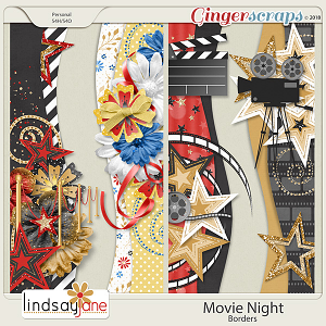 Movie Night Borders by Lindsay Jane