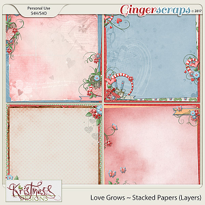 Love Grows Stacked Papers (layers)