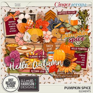 Pumpkin Spice Elements by JB Studio and Aimee Harrison Designs