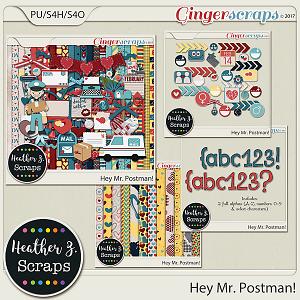 Hey Mr Postman BUNDLE by Heather Z Scraps