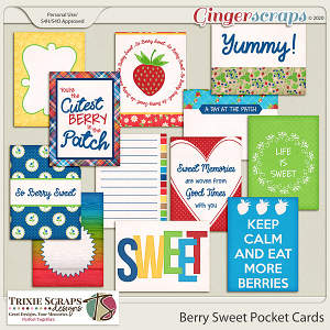 Berry Sweet Pocket Cards by Trixie Scraps Designs
