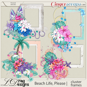 Beach Life, Please: Cluster Frames by LDragDesigns
