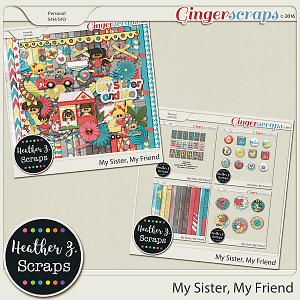 My Sister, My Friend BUNDLE by Heather Z Scraps