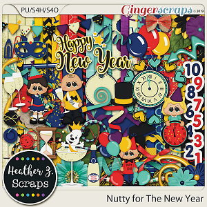 Nutty for The New Year KIT by Heather Z Scraps