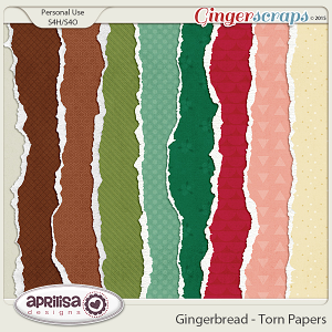 Gingerbread - TornPapers by Aprilisa Designs