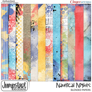 Nautical Nights {Blended Papers}