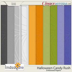 Halloween Candy Rush Embossed Papers by Lindsay Jane