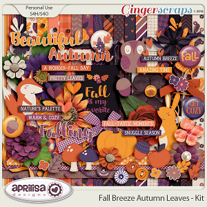 Fall Breeze Autumn Leaves - Kit by Aprilisa Designs