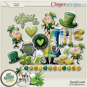 Good Luck Collab Stickers by JB Studio and Paty Greif