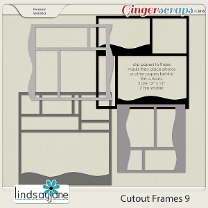 Cutout Frames 9 by Lindsay Jane