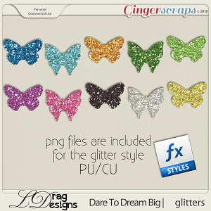 DareTo Dream Big: Glitters by LDrag Designs