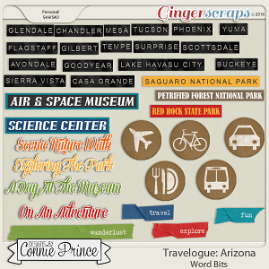 Travelogue Arizona - Word Bits
