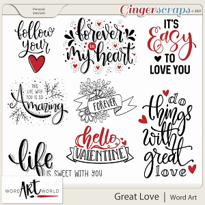 Great Love Word Art