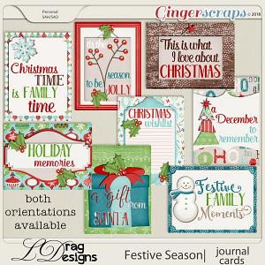 Festive Season: Journal Cards by LDragDesigns