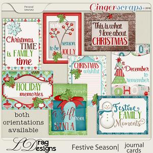 Festive Season: Journal Cards by LDragDesigns