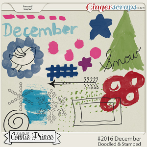 #2016 December - Doodles & Stamps