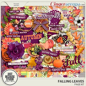 Falling Leaves Page Kit by JB Studio